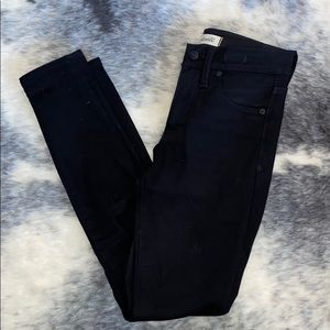 "Madewell 9"" Black High Rose Skinny Jeans 23"